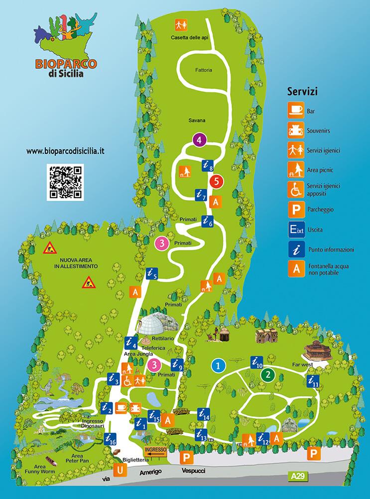 mappa bioparco di sicilia