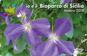 Bioparco di Sicilia - tesseramento 2018